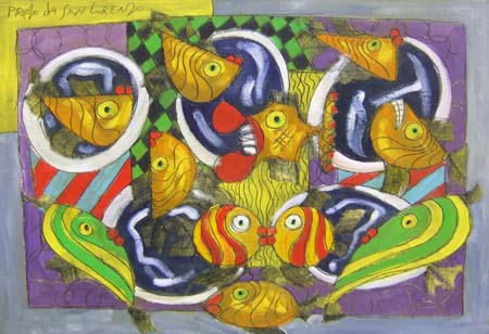 Quadro di Paolo da San Lorenzo Acquario - olio tela